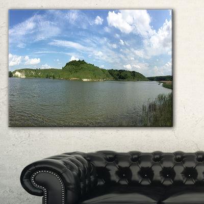 Designart Wide Lake Trees Sky Landscape LandscapeArtwork Canvas