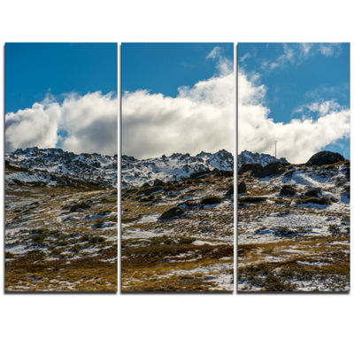 Designart Wide View Of Kosciuszko National Park Large Seashore Triptych Canvas Print