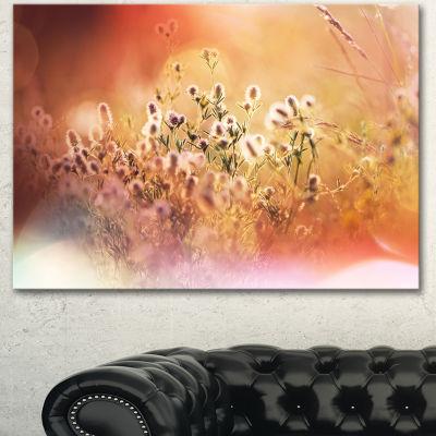 Designart Wild Flowers On Light Background FloralCanvas Art Print - 3 Panels