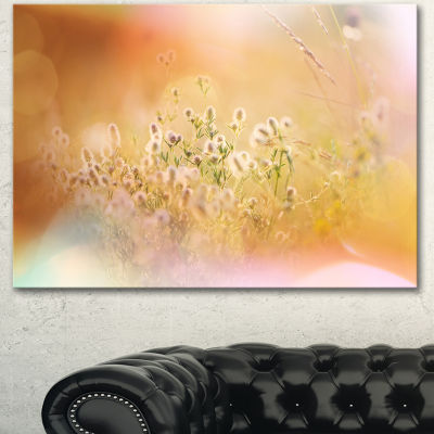 Designart Wild Purple Flowers On Light BackgroundLarge Flower Canvas Art Print - 3 Panels