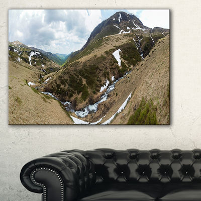 Designart Wild Sprint Mountain Panorama LandscapeArtwork Canvas