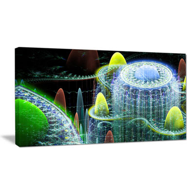 Designart World Of Infinite Fractal Universe Oversized Abstract Canvas Art