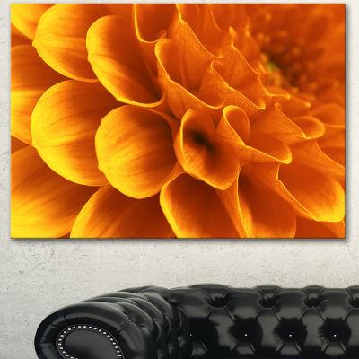 Designart Yellow Abstract Floral Design Floral Canvas Art Print