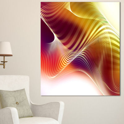 Designart Yellow Abstract Warm Fractal Design Abstract Wall Art Canvas