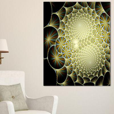 Design Art Yellow Symmetrical Unique Fractal DesignFloral Canvas Art Print