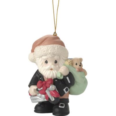 "Precious Moments  ""All Revved Up For The Holidays""  Bisque Porcelain Ornament  #171032"