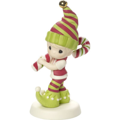 """Precious Moments  """"Wishing You The Sweetest Holiday""""  Second in Annual Elf Series  Bisque Porcelain Figurine  #171013"""
