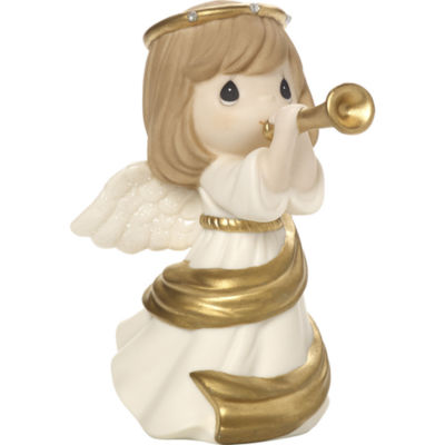 """Precious Moments  """"Make Music From The Heart""""Bisque Porcelain Figurine  #171022"""
