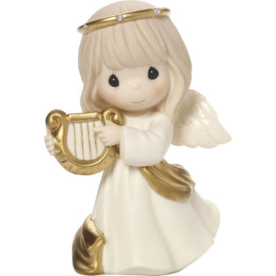 "Precious Moments  ""Make Sweet Melody""  Bisque Porcelain Figurine  #171023"