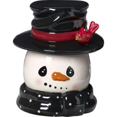 """Precious Moments  """"Snow Much Fun""""  Snowman Cookie Jar  Ceramic  #171471"""