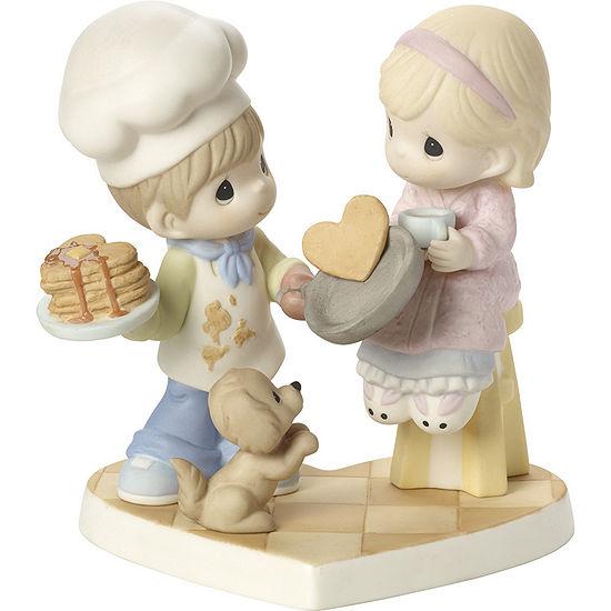 "Precious Moments  ""You Make My Heart Flip""  Bisque Porcelain Figurine  #171034"