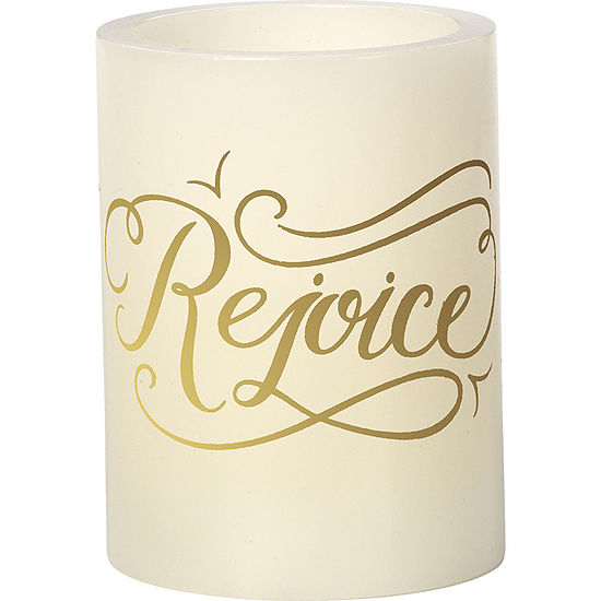 """Precious Moments  """"Rejoice""""  Flameless Candle#171405"""