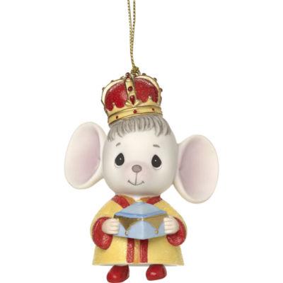 """Precious Moments  """"The Holidays Are Mice With You""""  Bisque Porcelain Ornament  Mouse With Frankincense  #171061"""