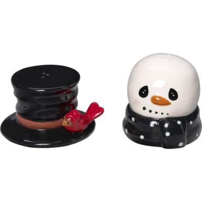 "Precious Moments  ""Snow Much Fun""  Snowman Salt And Pepper Shakers  Ceramic  #171474"