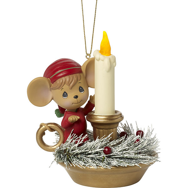 "Precious Moments  ""Making Spirits Bright""  Lighted Resin Ornament  #171411"