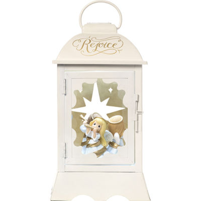 "Precious Moments  ""Angelic Lantern""  Lighted Musical Resin/Metal Lantern  #171108"