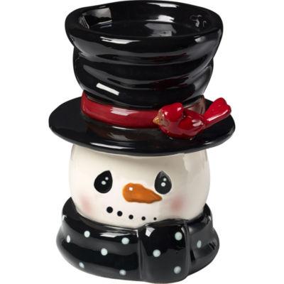 "Precious Moments  ""Snow Much Fun""  Snowman  Candle Holder  Ceramic #171477"