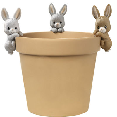 "Precious Moments  ""Bunny Trio""  Set Of Three Pot Hangers  Resin #171454"