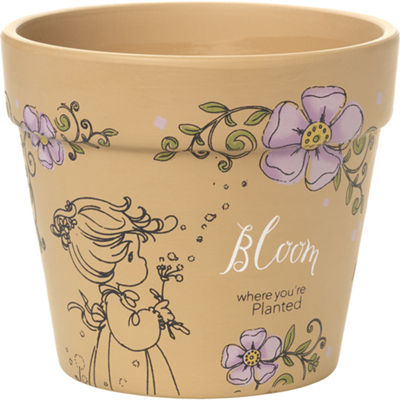 "Precious Moments  ""Bloom Where You're PlantedSmall Terra Cotta Planter  #171448"