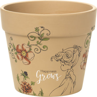 "Precious Moments  ""Happiness Grows""  Small Terra Cotta Planter  #171451"