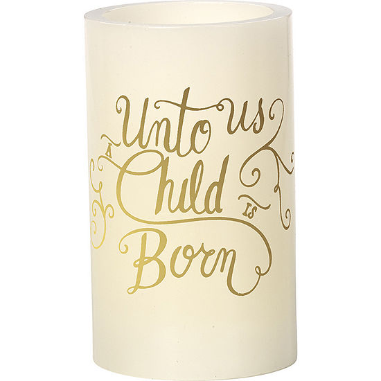 """Precious Moments  """"Unto Us A Child Is Born""""  Flameless Candle  #171501"""