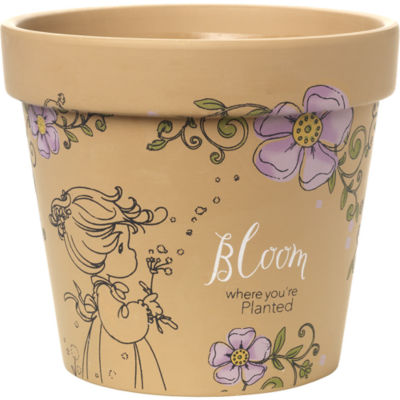 "Precious Moments  ""Bloom Where You're Planted"" Terra Cotta Planter  #171449"