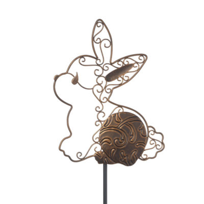"Precious Moments  ""Honey Bunny""  Garden Stake Metal  #171494"