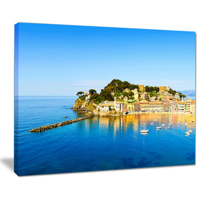 Designart Sestri Levante Silence Bay Sea Canvas Art