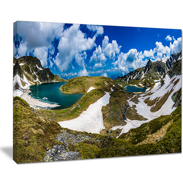 Designart Seven Rila Lakes In Bulgaria Canvas Art