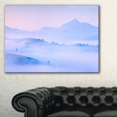 Designart Silhouettes Of Morning Mountains Canvas Art