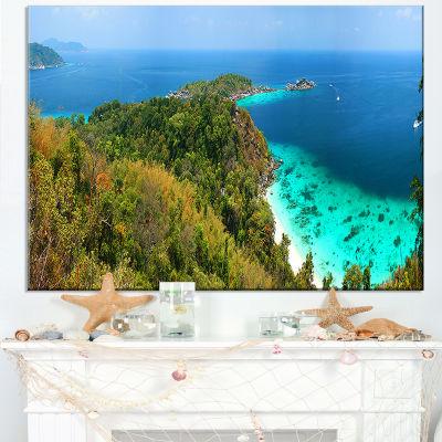 Designart Similan Islands Paradise Bay Canvas Art