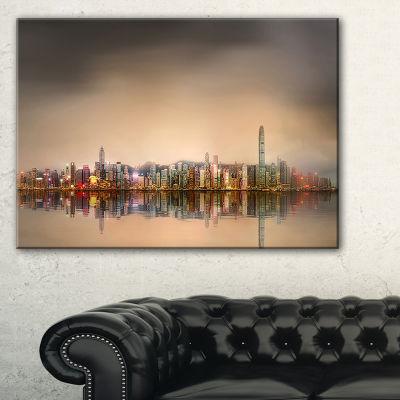 Designart Singapore Financial District Skyscrapers Canvas Art