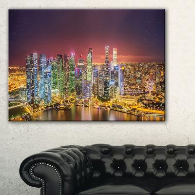 Designart Singapore Skyline View Of Marina Bay Canvas Art
