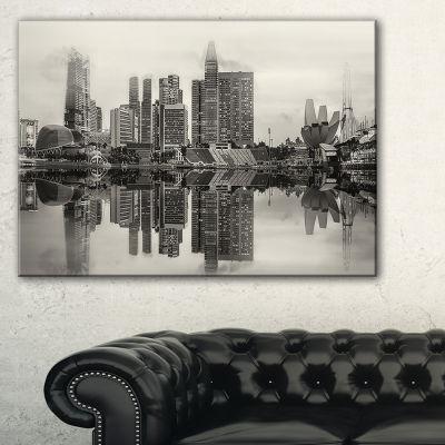 Designart Singapore Skyline View Panorama Canvas Art