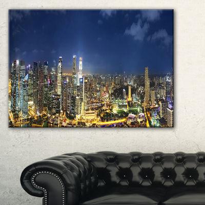Designart Singapore Skyscrapers Panorama Canvas Art