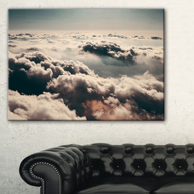 Designart Sky Above Dark Heavy Clouds Canvas Art