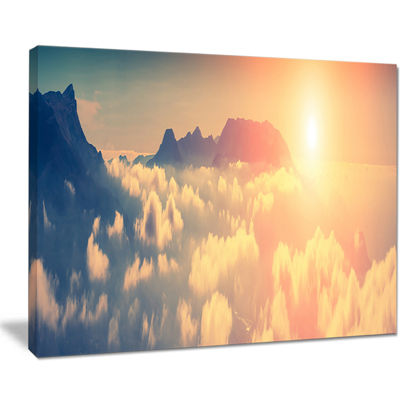 Designart Sky Above Floating Clouds Canvas Art
