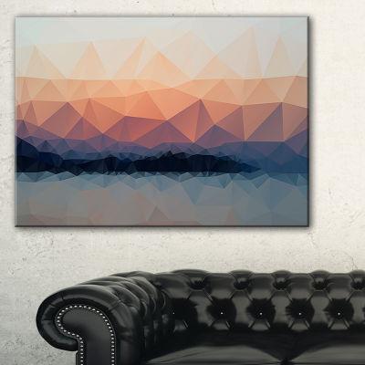 Designart Sky Sea And Beach Abstract Vector View Canvas Art