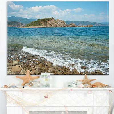 Designart Small Isle Turkey Panorama Canvas Art