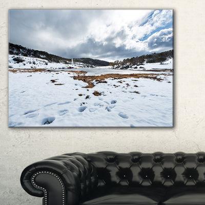 Designart Snow Mountains In Kosciuszko Park Canvas Art