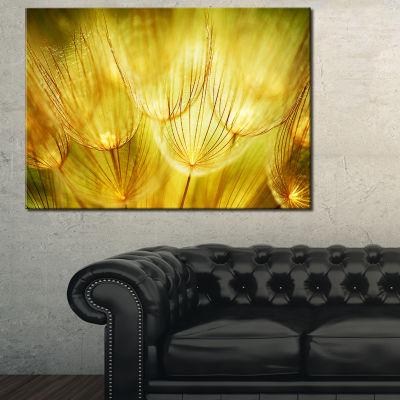 Designart Soft Yellow Dandelion Flowers 3-pc. Canvas Art