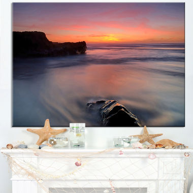 Designart Softness In The Tide Magoito Beach Canvas Art