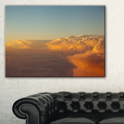 Designart Solotful Sunset In Sky Cloudscape Canvas Art