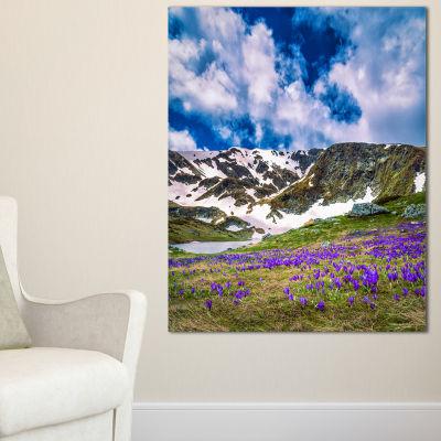 Designart Spring Blooming Crocus Flowers Canvas Art