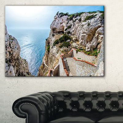 Designart Stairway To Neptune S Grotto Canvas Art