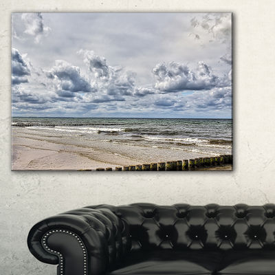 Designart Stormy Weather In Hiddensee Sea Canvas Art