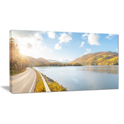 Designart Stunning Autumn Mountains Canada Canvas Art