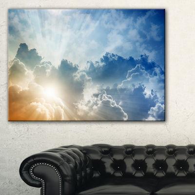Designart Stunning Blue Sky With Clouds Canvas Art