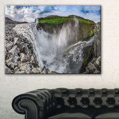 Designart Stunning Dettifoss Waterfall Iceland Canvas Art