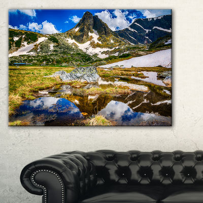Designart Stunning Mountains In Rila Lakes District Canvas Art